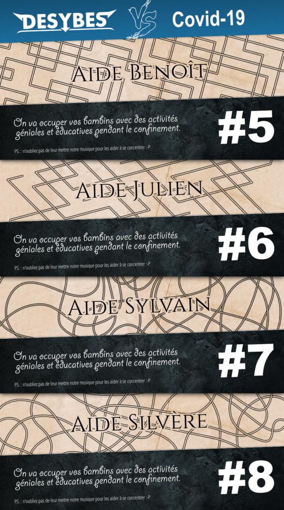 Aide les membres du groupe à résoudre leur problème au travers de ces quatre labyrinthes.